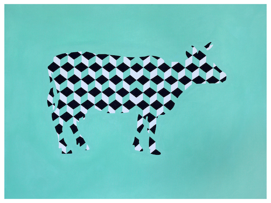 Artflutecom Pen And Ink Painting By Jayesh Sachdev Techno Cow